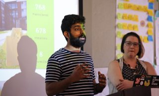 Shivam Mahajan presenting